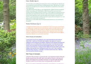 Children's reviews of The Secret Lake