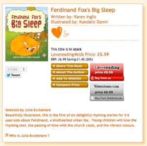 Ferdinand Fox's Big Sleep on LoveReading4KidsUK