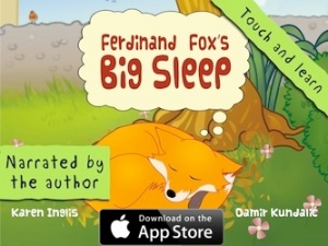 Download Ferdinand Fox's Big Sleep interactive iPad kids book app from the App Store