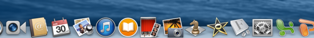 Image of icons in dock on iMack