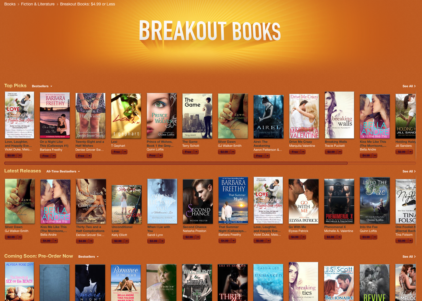Image Of Breakout Books Section In The Ibooks Store