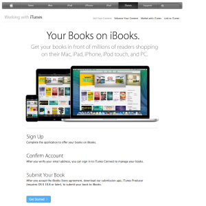 Image of iTunes Connect landing page