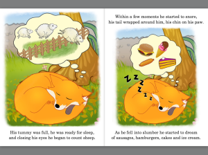 Fox sleeping mages from Ferdinand Fox's Big Sleep picture book