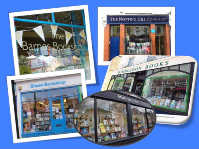 Image of 5 bookshop windows