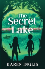 image of children looking across a lake - the book cover of The Secret Lake
