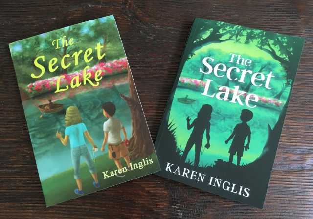 images of two front covers of the secret lake by karen inglis