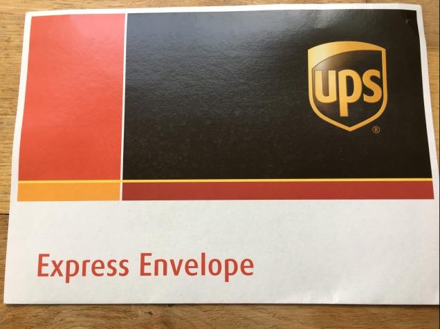 Image of UPS express envelope