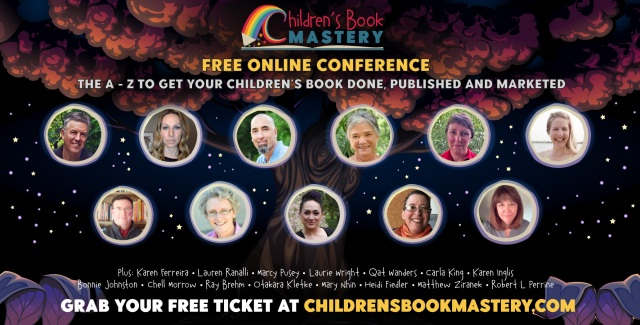logo and speaker images for the Children's Book Mastery Summit